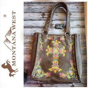 🧡Montana West🧡EUC Large Western Handbag